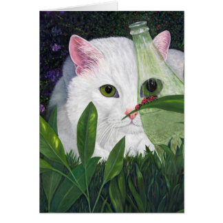 Ladybugs and Cat Card