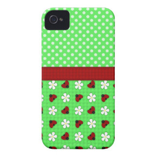 Ladybugs and Daisies iPhone 4 Case