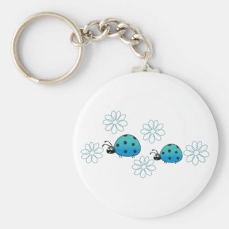 LADYBUGS AND DAISIES KEY CHAINS