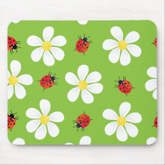 Ladybugs and Daisies Mousepad