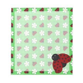 Ladybugs and Daisies Memo Pad