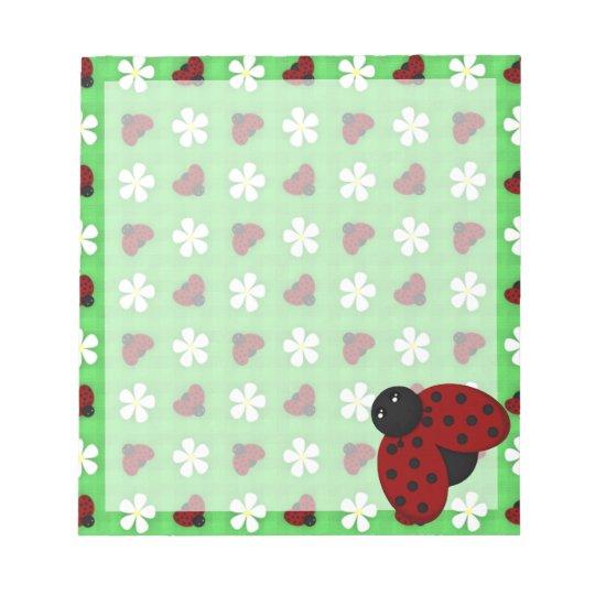 Ladybugs and Daisies Notepad