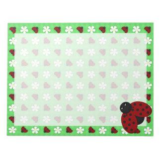 Ladybugs and Daisies Memo Notepad