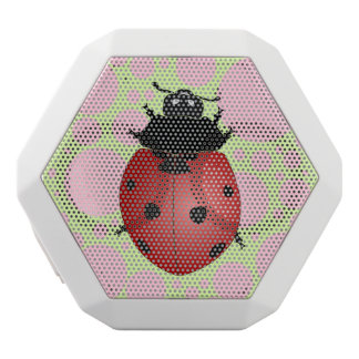 Ladybugs and Dots White Bluetooth Speaker