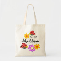 Ladybugs and Flower Girls Tote Bag