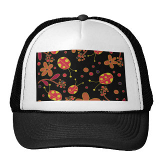 Ladybugs and flowers 2 trucker hat