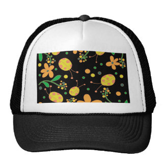 Ladybugs and flowers 3 trucker hat