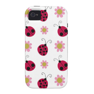 Ladybugs and Flowers Case-Mate iPhone 4 Case