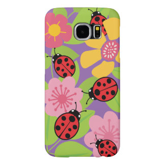 Ladybugs and Garden Flowers Samsung Galaxy S6 Case