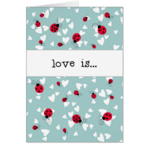 Ladybugs and Hearts - Love is...