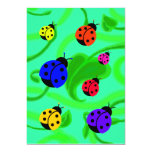 Ladybugs and Leaves Birthday Party Invitations