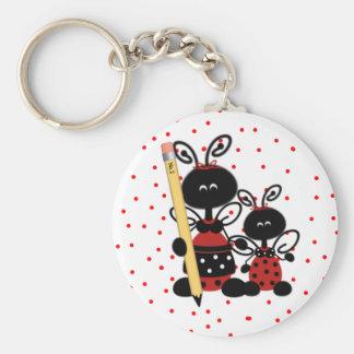 Ladybugs and Polka Dots Teacher s Key Chain