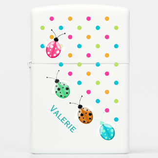 Ladybugs and Polka Dots Zippo Lighter