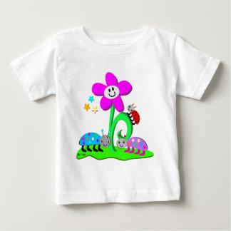 Ladybugs and Smiling Flower Shirt