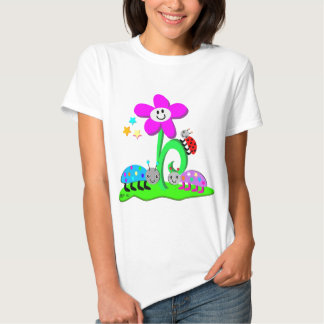 Ladybugs and Smiling Flower T Shirt