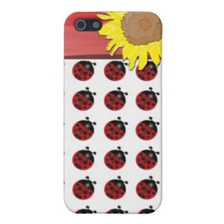 Ladybugs and sunflower iPhone 5 covers