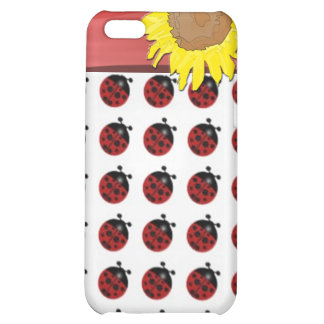 Ladybugs and sunflower iPhone 5C cases