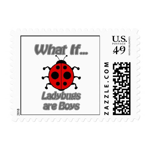 Ladybugs are boy stamps