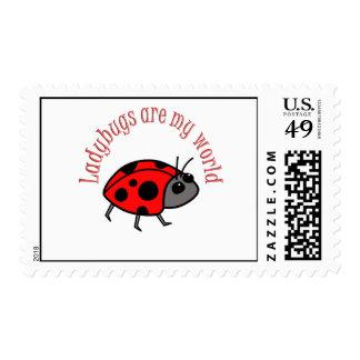 Ladybugs are my World Postage