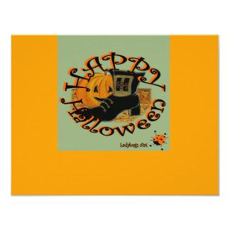 "Ladybugs Art  ""Halloween"" 4.25x5.5 Paper Invitation Card"
