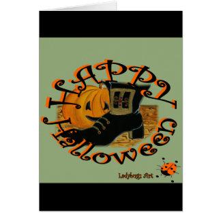 "Ladybugs Art  ""Halloween"" Greeting Card"