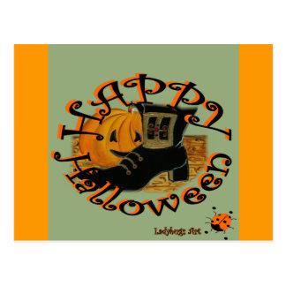"Ladybugs Art  ""Halloween"" Post Card"