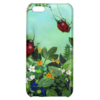 Ladybugs At Play iPhone Case Case For iPhone 5C