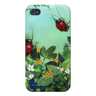 Ladybugs At Play iPhone Case iPhone 4 Case