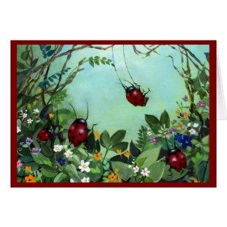 Ladybugs At Play Notecards Greeting Card