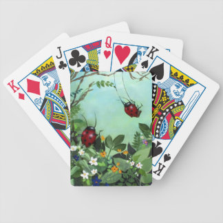 Ladybugs At Play Playing Cards