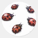 Ladybugs Classic Round Sticker