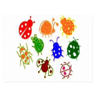 Ladybugs - Colorful Postcard