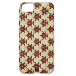 Ladybugs Cross-Stitch Embroidery Design iPhone 5C Case