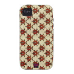 Ladybugs Cross-Stitch Embroidery Design Case-Mate iPhone 4 Cover