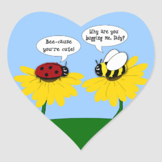 Ladybug's Crush on a Bumble Bee Stickers