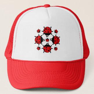 LADYBUGS DESIGN TRUCKER HAT
