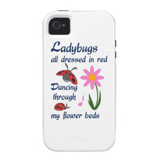 LADYBUGS DRESSED IN RED Case-Mate iPhone 4 CASE