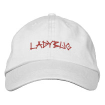 LADYBUGS EMBROIDERED BASEBALL HAT