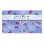 Ladybugs Flowers and Leaves Business Card
