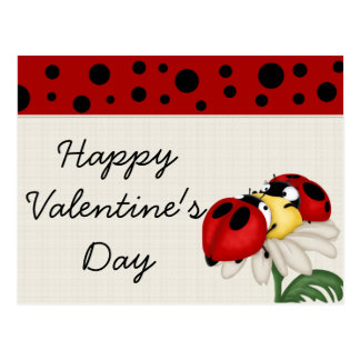 Ladybugs Happy Valentine's Day Postcards
