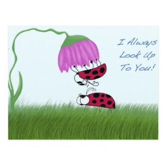 Ladybugs ~ I Always Look Up To You! Postcard