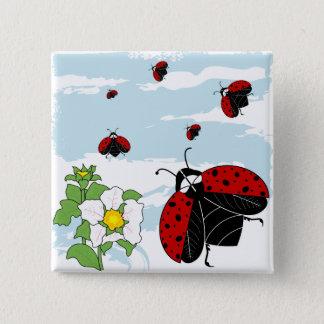 ladybugs in flight button