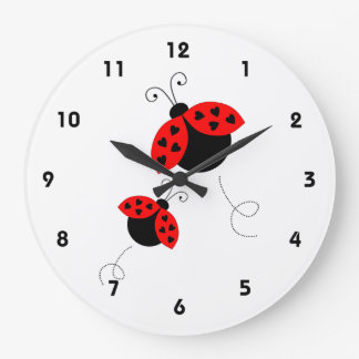 Ladybugs in Love Clock