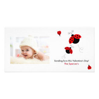 Ladybugs in Love Photo Cards