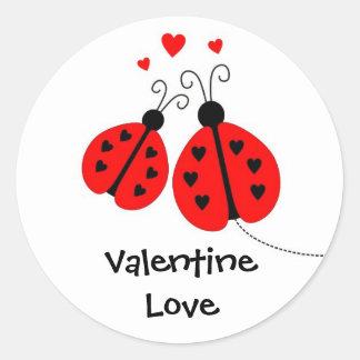 Ladybugs in Love Valentine Stickers