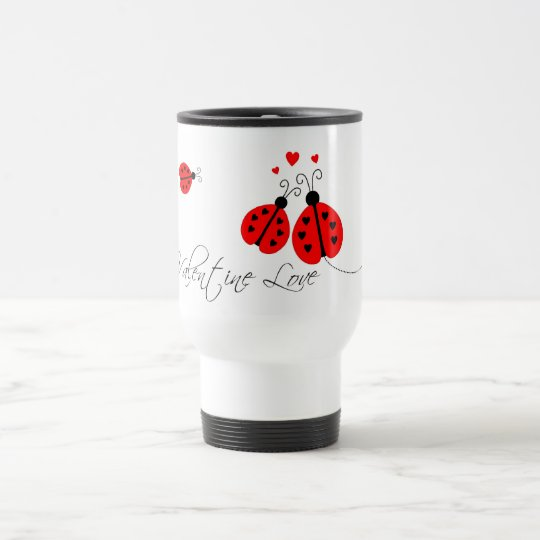 Ladybugs in Love Valentine Travel Mug