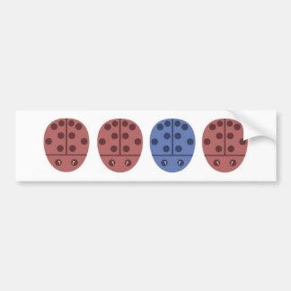 Ladybugs in Pink Blue Bumper Sticker