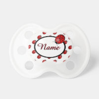 Ladybugs in red pacifier