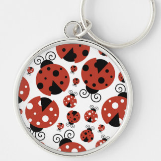 Ladybugs (Ladybirds, Lady Beetles) - Red Black Keychain