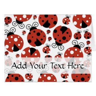 Ladybugs (Ladybirds, Lady Beetles) - Red Black Large Greeting Card